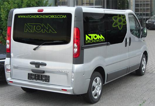 Rotulación furgoneta ATOM Droneworks