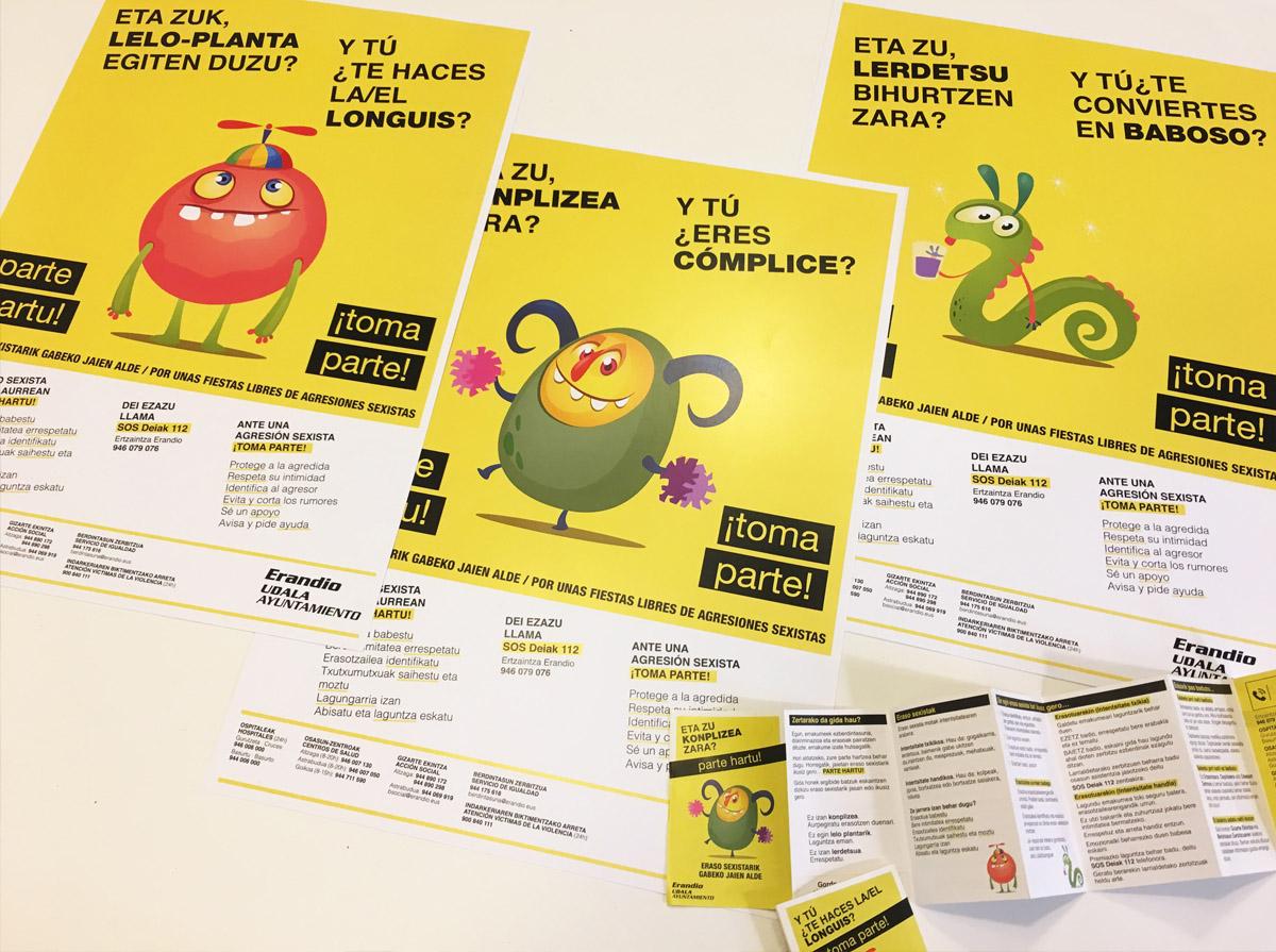 Campaña anti-agresiones sexistas del Ayuntamiento de Erandio