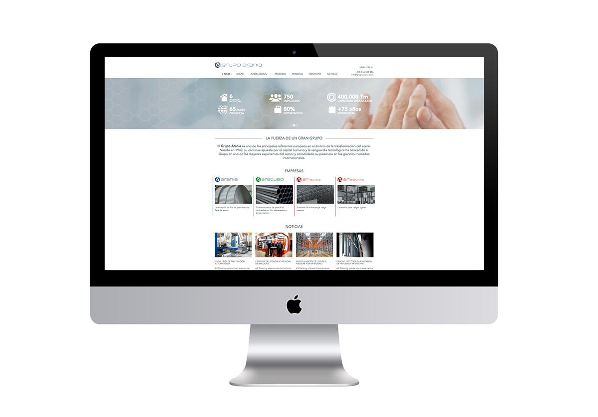 Sitio web Grupo Arania