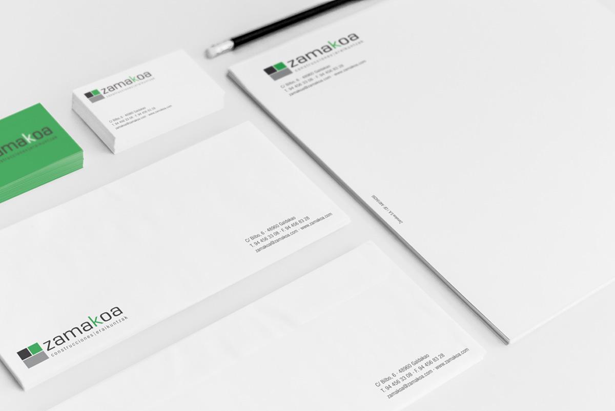 Diseño de papelería corporativa Zamakoa