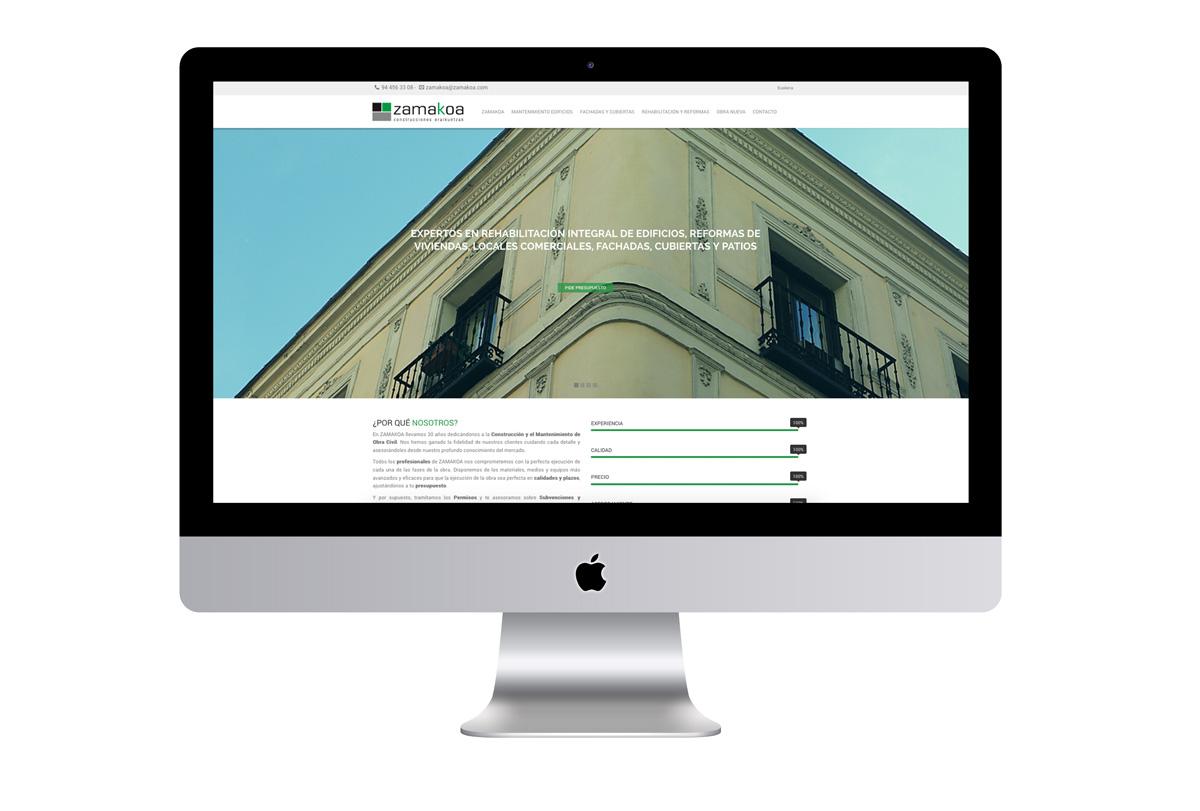 Sitio web Zamakoa